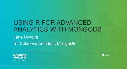 Using R for Advanced Analytics with MongoDB