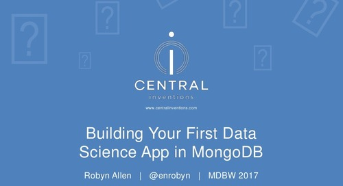 Building Your First Data Science Application in MongoDB