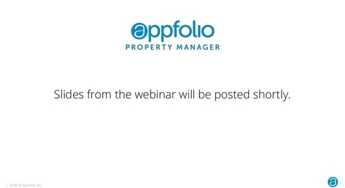 Webinar Slides Coming Soon