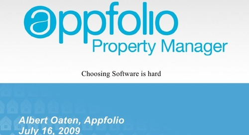 How to Select Property Management Software