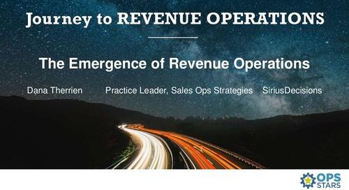 [Keynote] Emergence of Revenue Operations