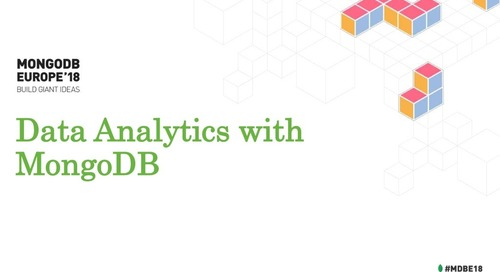 Data Analytics with MongoDB - Jane Fine