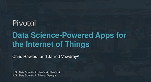 Data Science Powered Apps for Internet of Things