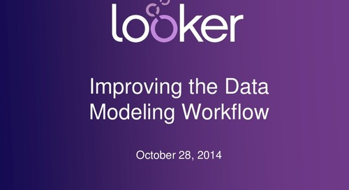 Improving Data Modeling Workflow