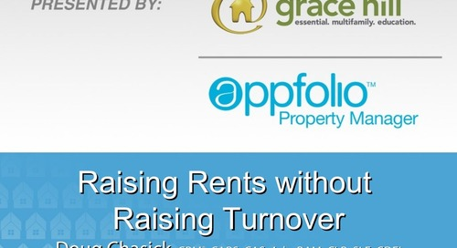Raising Rents Without Raising Turnover