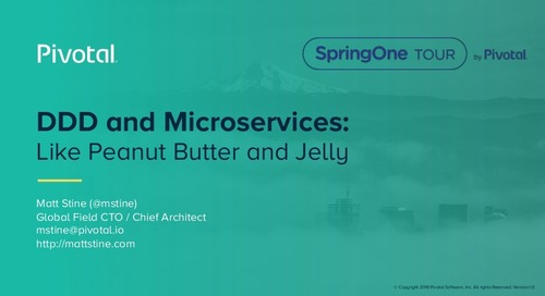 DDD and Microservices: Like Peanut Butter and Jelly - Matt Stine