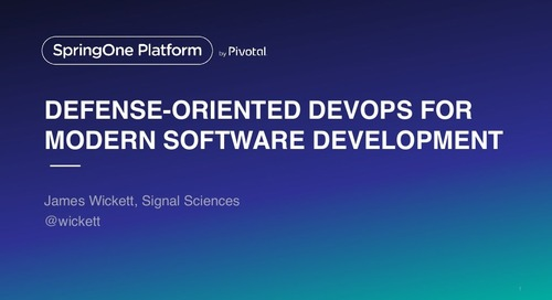 Defense-Oriented DevOps for Modern Software Development