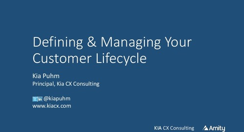 Defining & Managing Your Customer Lifecycle