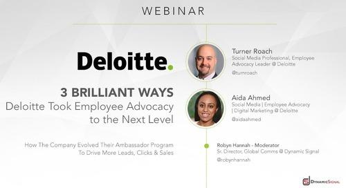 3 Brilliant Ways Deloitte Took Employee Advocacy to the Next Level