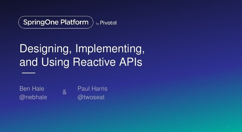 Designing, Implementing, and Using Reactive APIs