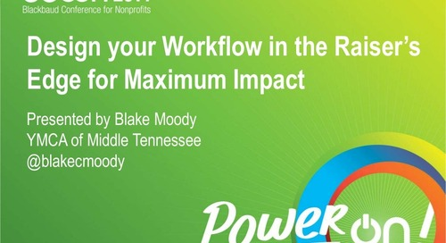 Align Your Workflow in the Raiser's Edge for Maximum Impact