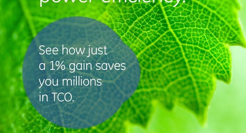 Why Efficiency Matters. See how just a 1% gain saves you millions in TCO.
