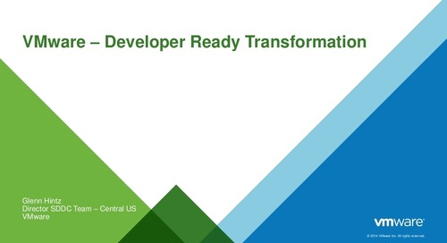 VMware Developer-Ready Transformation