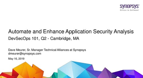 Automate and Enhance Application Security Analysis