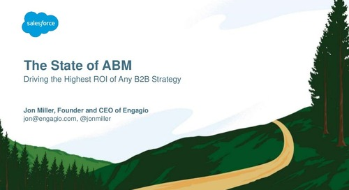 The State of ABM: Driving the Highest ROI of Any B2B Strategy     Engagio