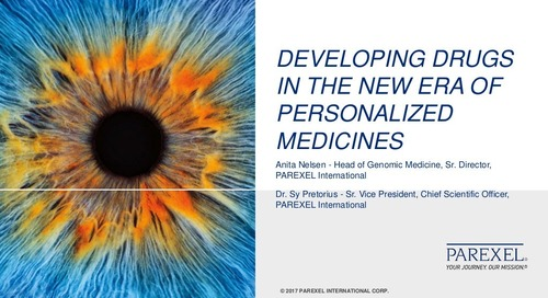 Developing Drugs �in the New Era of Personalized Medicines