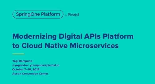 Modernizing Digital APIs Platform to Cloud-Native Microservices