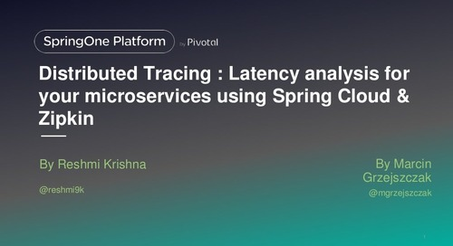 Latency analysis for your microservices using Spring Cloud & Zipkin
