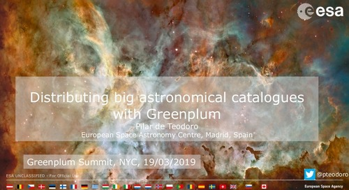 Distributing big astronomical catalogues with Greenplum - Greenplum Summit 2019