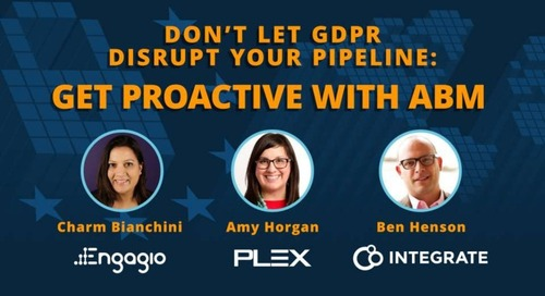 Don't Let GDPR Disrupt Your Pipeline – Get Proactive with ABM  |  Engagio