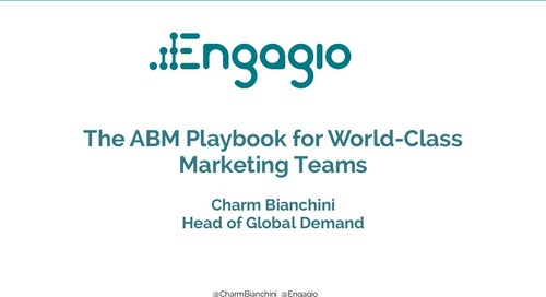 The ABM Playbook for World-Class Marketing Teams