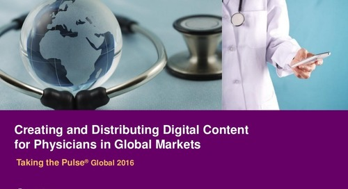 Digital Content for Physicians in Global Markets