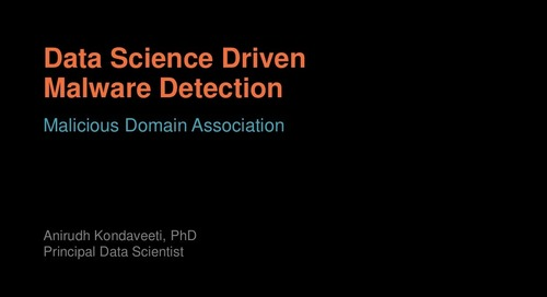 Data Science Driven Malware Detection