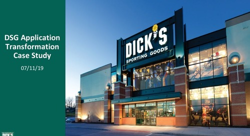 DICK'S Sporting Goods: What is the Future of Retail in a Cloud App World?