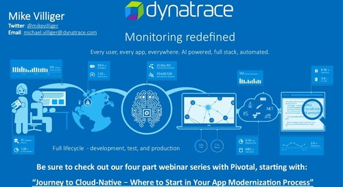 Dynatrace Monitoring Redefined - Cloud-Native Roadshow Los Angeles