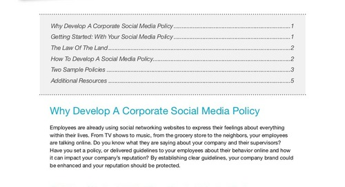 """Social Media Policy for Property Mgrs [With Examples] """