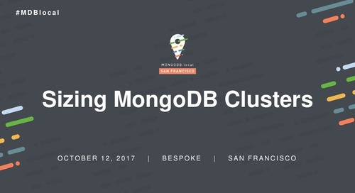 Sizing MongoDB Clusters