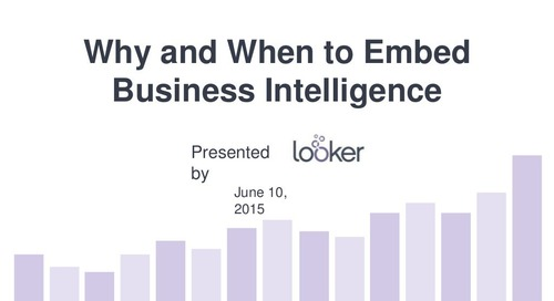 When and Where to Embed Business Intelligence