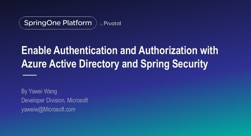 Enable Authentication and Authorization with Azure Active Directory and Spring Security