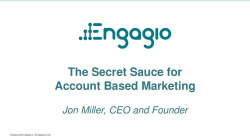 The Secret Sauce for Account Based Marketing