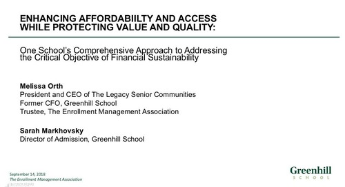 Enhancing Affordability and Access While Protecting Value and Quality
