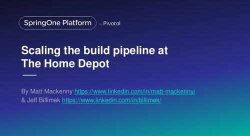 Enterprise CI/CD - Scaling the build pipeline at Home Depot