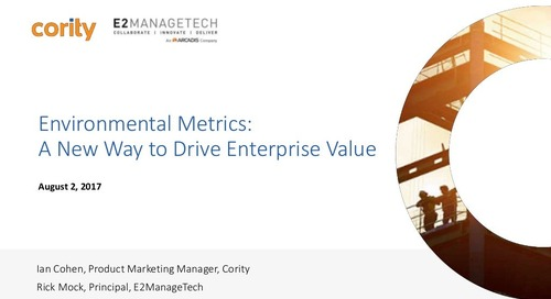 Environmental Metrics: A New Way to Drive Enterprise Value