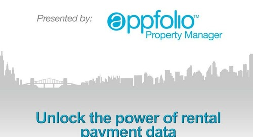 Unlock the Power of Rental Payment Data