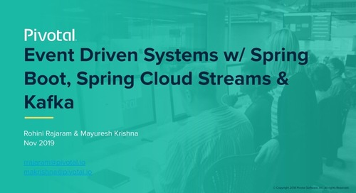 Event Driven Systems with Spring Boot, Spring Cloud Streams and Kafka