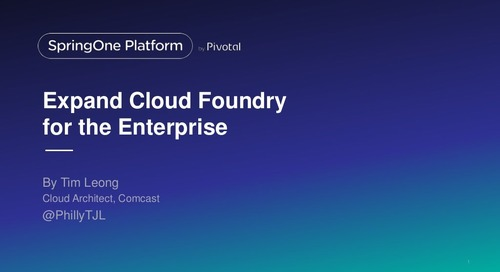 Expand Cloud Foundry for the Enterprise