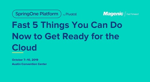 Fast 5 Things You Can Do Now to Get Ready for the Cloud