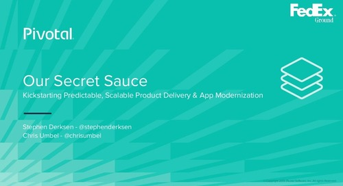 Pivotal's Secret Sauce