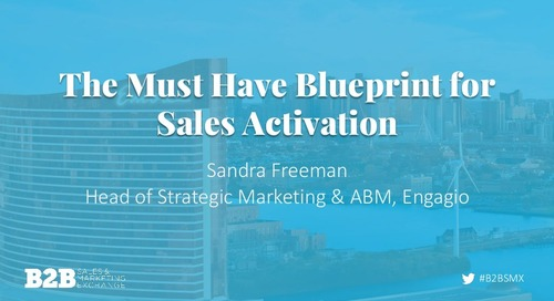 The Must Have Blueprint for Sales Activation  |  Slides