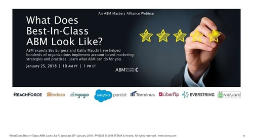 What does Best-In-Class ABM Look Like?  |  ABM Masters Alliance