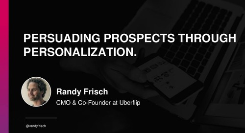 Persuading Prospects Through Personalization
