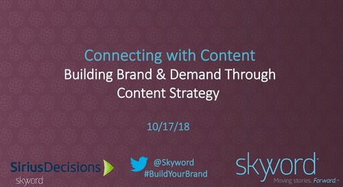 Connecting with Content: Building Brand and Demand Through Content Strategy