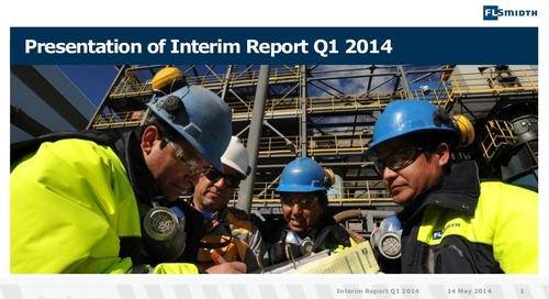 FLSmidth 1st Quarter Report 2014 Presentation