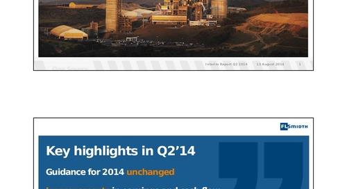 FLSmidth 2nd Quarter Report 2014