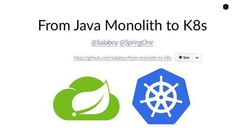 From Java Monoliths to K8s