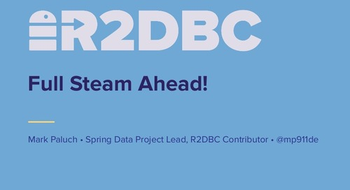 Full Steam Ahead, R2DBC!